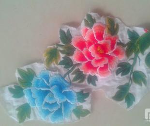 专业绣大花牡丹花的北京绣花厂顺达电脑绣花厂